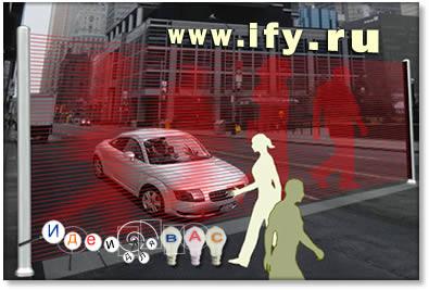 Изображения пешеходов вместо светофоров.