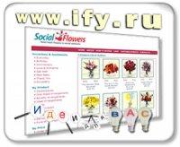 Бизнес в интернете. Social Flowers. Реальные цветы для виртуальных знакомых.