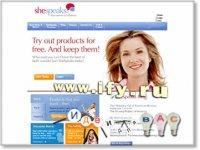 Интересный подход в продвижении товара на примере сайта www.shespeaks.com.
