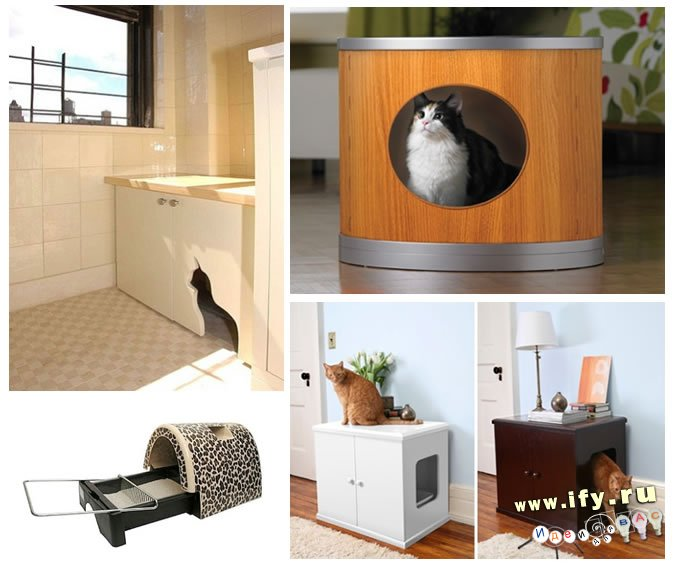 Туалет-домик для кошек своими руками фото 30