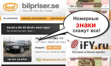 Интернет автосервис оценки автомобилей