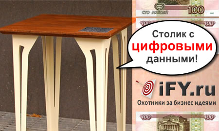 Столик с цифровым файлом