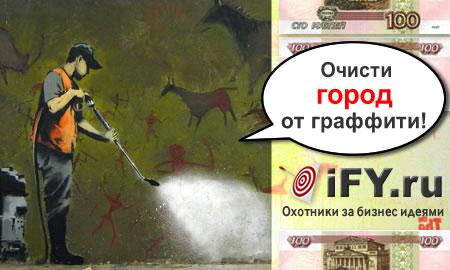 Бизнес идея фирмы по очистке стен от граффити
