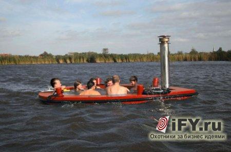 Бизнес из Голландии: HotTug - в деревянной ванне вниз по реке!