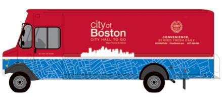 Мобильный грузовик на службе мэрии Бостона