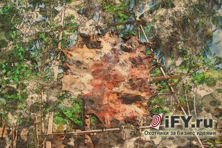 Способы декоративной обработки кожи: набор кожаного полотна из мелких кусков кожи